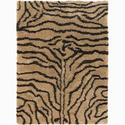 Artist's Loom Hand-woven Shag Rug (7'9 Round)