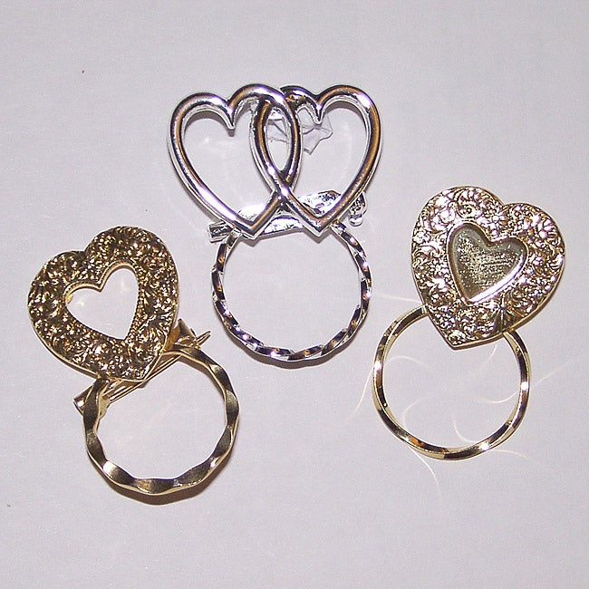 Detti Originals SPEC pins Heart Pins 3-piece Spectacle Brooch Set