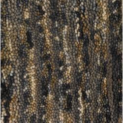 Handwoven Multicolor One-Inch Mandara New Zealand Wool Rug (5' x 7'6)