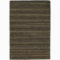 Artist's Loom Hand-woven Contemporary Stripes Wool Rug - 5' x 7'6