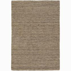 Artist's Loom Hand-woven Contemporary Stripes Wool Rug (7'9x10'6) - multi - Thumbnail 0