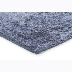 Handwoven One-Inch Blue Mandara Shag Rug (9' x 13') - Thumbnail 1