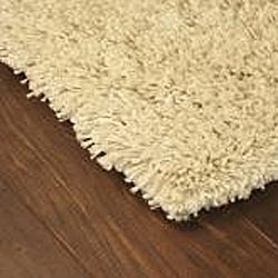 Manhattan Ivory Shag Rug 6 Round Free Shipping Today