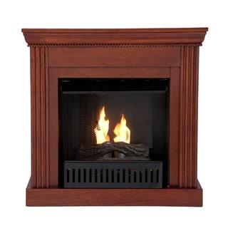 Martel Classic Mahogany Convertible Petite Gel Fuel Fireplace