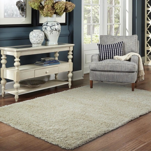 The Gray Barn Cromwell Ivory Shag Rug - 5'3 x 7'9