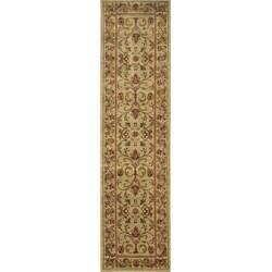 Ellington Beige/ Red Traditional Runner Rug (1'11 x 7'6) - Thumbnail 0