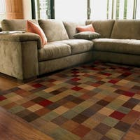 Ellington Brown/Red Transitional Area Rug - 3'10 x 5'5