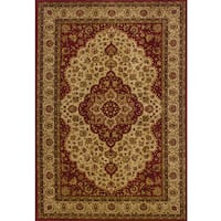 Ellington Red/Gold Traditional Area Rug - 3'10 x 5'5