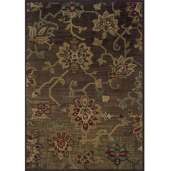 Ellington Brown/Green Transitional Area Rug (3'10 x 5'5)