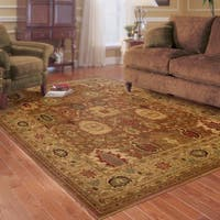 Ellington Rust/Gold Traditional Area Rug - 3'10 x 5'5