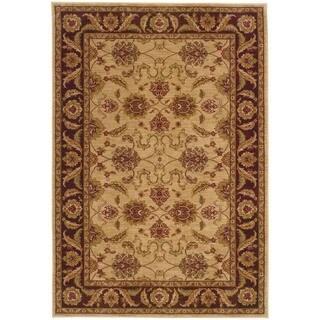 Ellington Beige/Brown Traditional Area Rug (3'10 x 5'5)