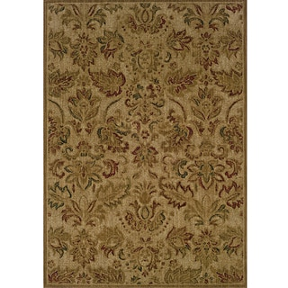Ellington Beige/Green Transitional Area Rug (3'10 x 5'5)