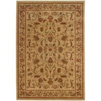 "Ellington Beige/Red Traditional Area Rug (5'3 x 7'6) - 5'3"" x 7'6"""