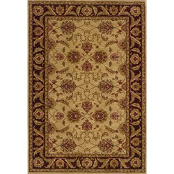 Ellington Beige/Brown Traditional Area Rug (5'3 x 7'6)