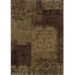 Ellington Brown/Beige Transitional Area Rug (5'3 x 7'6)