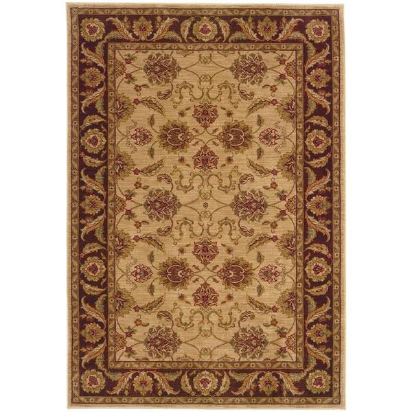Ellington Beige/Brown Traditional Area Rug (6'7 x 9'6)
