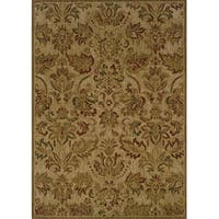 "Ellington Beige/Green Transitional Area Rug (6'7 x 9'6) - 6'7"" x 9'6"""
