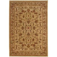 Ellington Beige/Red Traditional Area Rug (6'7 x 9'6)
