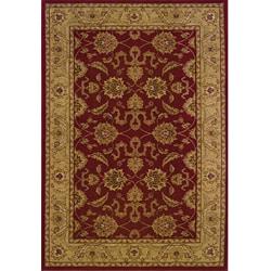 Ellington Red/Beige Traditional Area Rug (6'7 x 9'6)