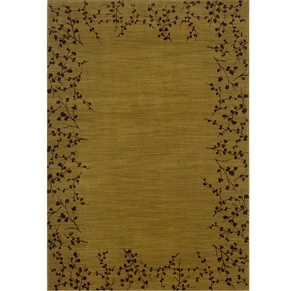 Ellington Gold/Brown Transitional Area Rug - 7'8 x 10'10