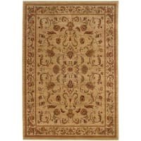 Ellington Beige/Red Traditional Nylon Area Rug - 7'8 x 10'10
