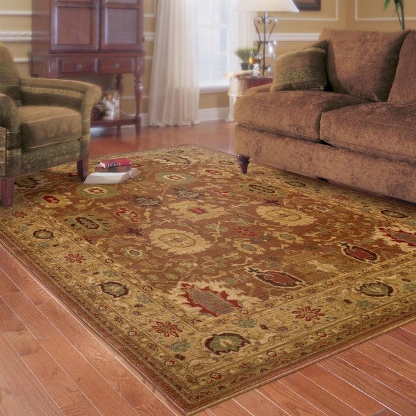 Ellington Rust/Gold Traditional Area Rug - 7'8 x 10'10