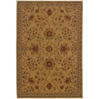 Ellington Beige/Red Traditional Area Rug (7'8 x 10'10)