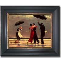 Jack Vettriano 'Singing Butler' Framed Canvas Art