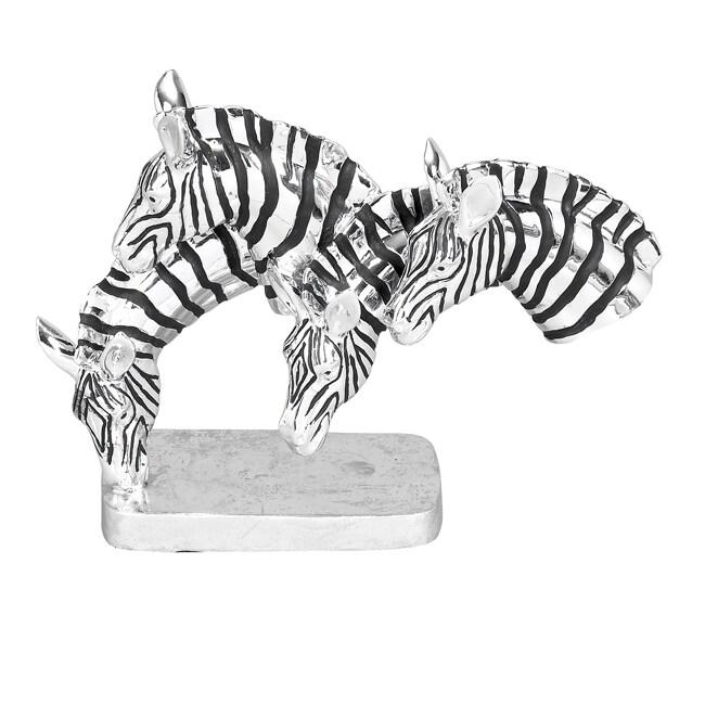 Grazing Zebras Table Sculpture Decor