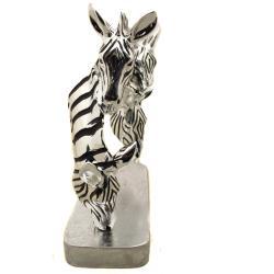 Grazing Zebras Table Sculpture Decor - Thumbnail 2