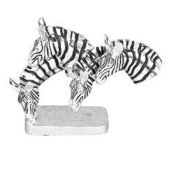 Grazing Zebras Table Sculpture Decor