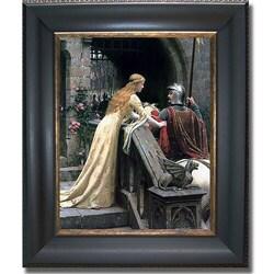 Edmund Leighton 'Godspeed' Framed Canvas Art