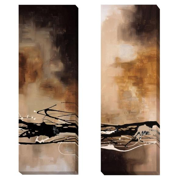 Laurie Maitland 'Tobacco and Chocolate I & III' 2-piece Canvas Art Set