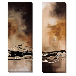 Laurie Maitland 'Tobacco and Chocolate I & III' 2-piece Canvas Art Set - Multi