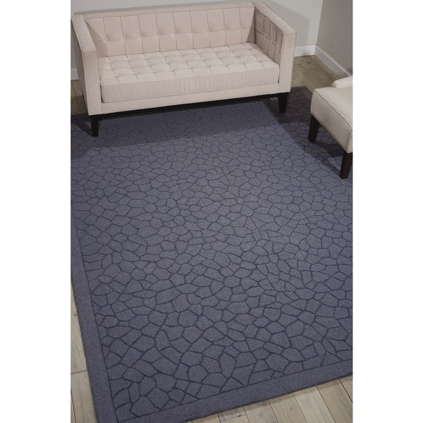 Nourison Hand-tufted Barcelona Grey Rug (5'3 x 7'4) - 5'3 x 7'4