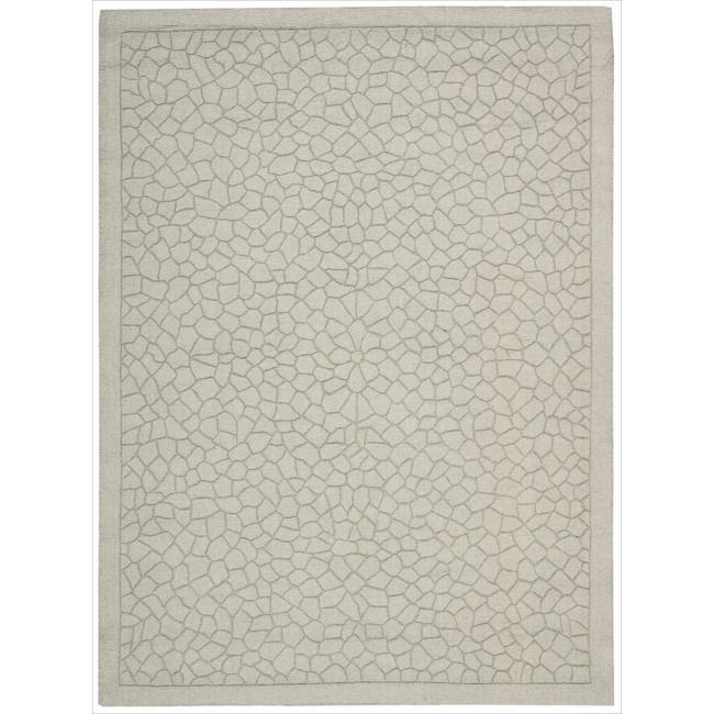 Nourison Hand-tufted Barcelona Light Green Rug - 7'9 x 9'9