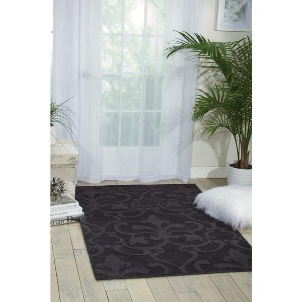 Nourison Hand-tufted Barcelona Black Rug (7'9 x 9'9) - 7'9 x 9'9
