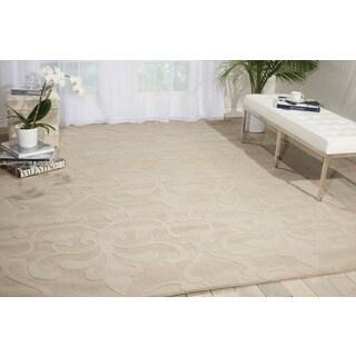 Nourison Hand-tufted Barcelona Sand Rug (7'9 x 9'9)
