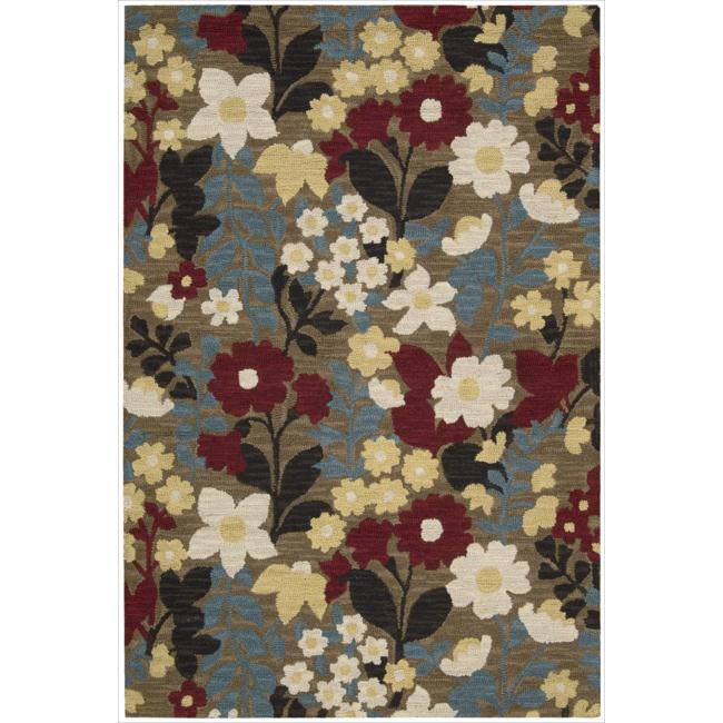 Nourison Hand Tufted Marbella Wool Brown Rug - 5' x 7'6
