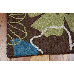 Nourison Hand Tufted Marbella Light Brown Wool Rug (3'6 x 5'6) - Thumbnail 1