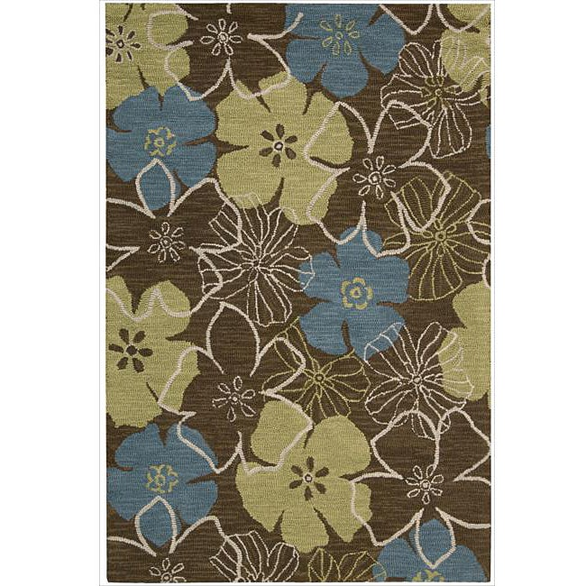 Nourison Hand Tufted Marbella Light Brown Wool Rug - 5' x 7'6