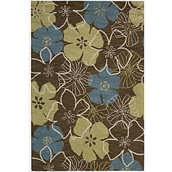 Nourison Hand Tufted Marbella Light Brown Wool Rug - 5' x 7'6 - Thumbnail 0
