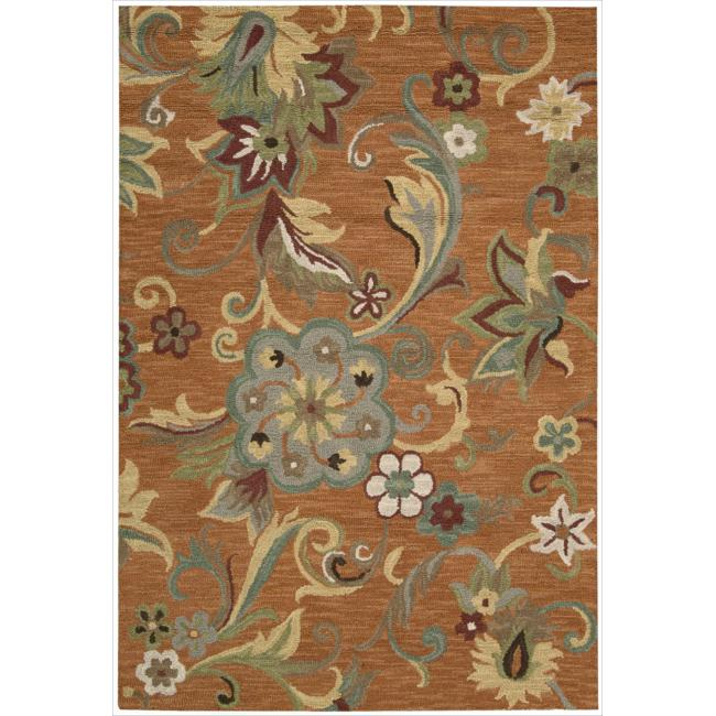 Nourison Hand Tufted Marbella Rust Wool Rug (7'9 x 9'9)