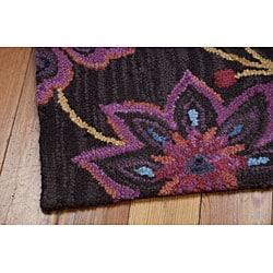 Shop Nourison Hand Tufted Marbella Wool Brown Wool Rug 3