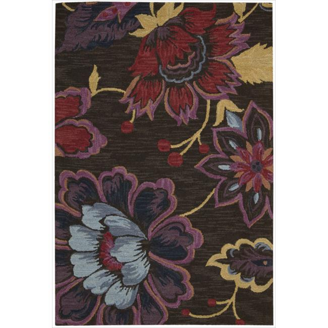 Nourison Hand Tufted Marbella Wool Brown Wool Rug (7'9 x 9'9) - Thumbnail 0