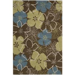 Nourison Hand Tufted Marbella Light Brown Wool Rug (7'9 x 9'9)