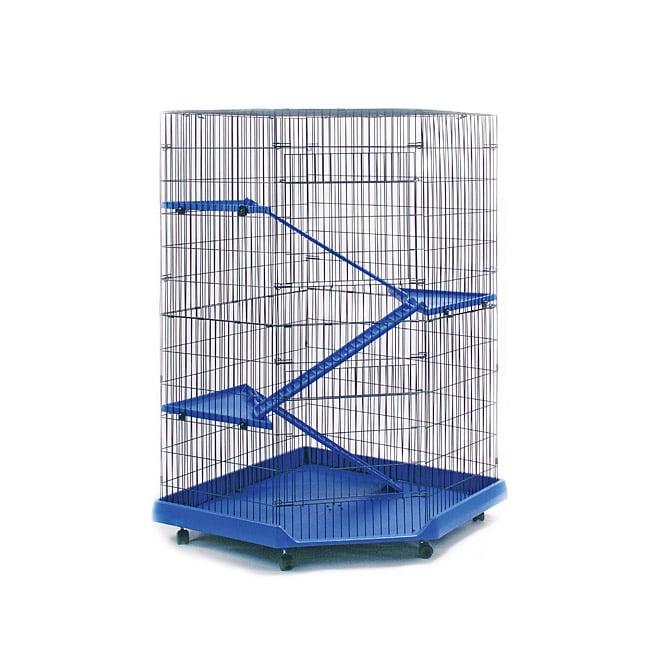 Prevue Pet Products 4-story Blue/ Black Corner Ferret/ Ch...