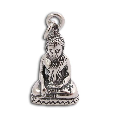 Handmade Sterling Silver Buddha Statue Pendant (Thailand)