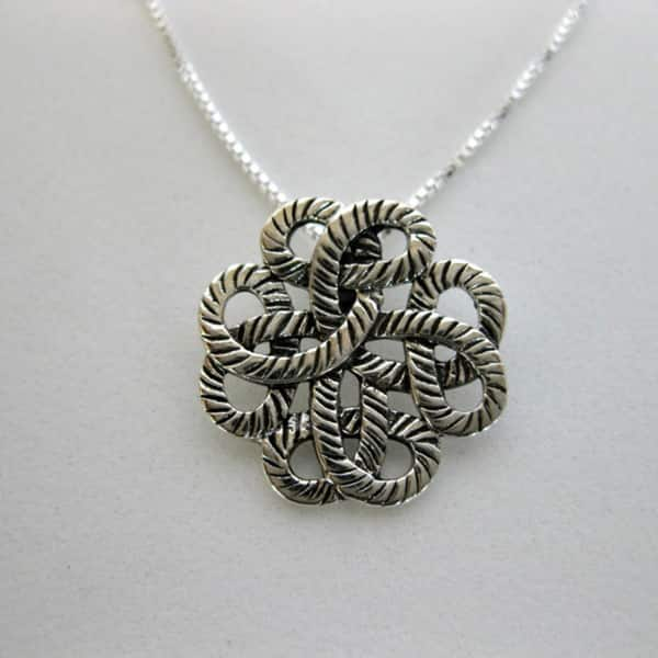 Traditional Design Sterling Silver Pendant Necklace Handmade Jewelry