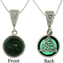 Carolina Glamour Collection Sterling Silver Celtic Knot Reversible Necklace
